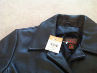 Brand new 2 in 1 leather coat