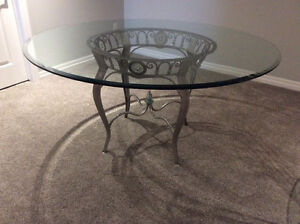 """60"""" glass table in excellent condition!"""