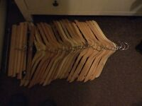 Wooden clothes hangers and trouser/ skirt hangers