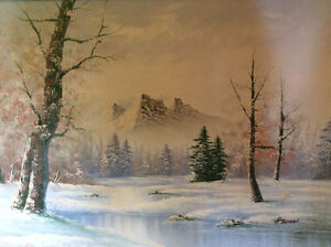 Landscape Painting Winter Scene by Herman