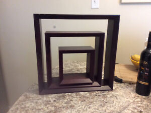 Solid wood wall cubes