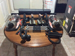 Assorted home fitness equipment
