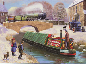 Canal Boat V2 LNER Railway Engine Steam Locomotive Train Christmas Xmas Card