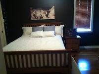 bedroom set with mattress