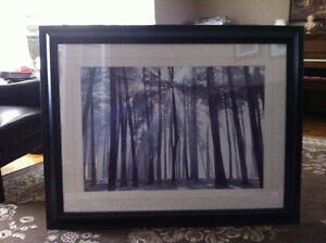Modern Forest picture with black frame West Island Greater Montréal image 2