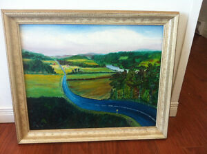 *Vintage 1960 signed oil painting*