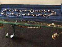 Gem tv real pearl silver hallmarkt necklace
