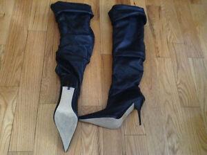 Black High Heel 'leather' Boot Gatineau Ottawa / Gatineau Area image 3