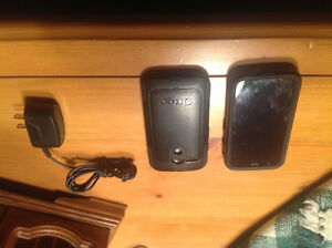 2 Motorola cell phones and chargers