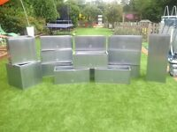 New Large zinc trough planters £25 each (deals on more)