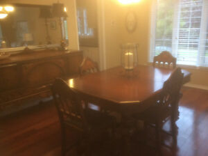 Stunning dining room table and buffet
