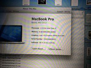 Late 2012 MacBook Pro Retina