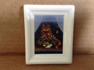 """Villeroy & Boch Galerie Minature Cat Portrait """" Minouche """""""
