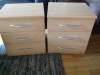 2 bedside cabinets for sale