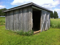 Solid Wood Storage Shed