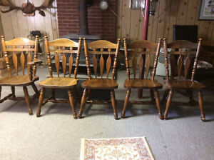 Location in Brighton, Ontario. -  Wooden Chairs