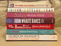 Cookery books - as new (unused).