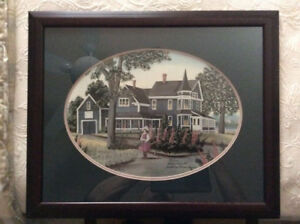 Lithograph Print with Frame