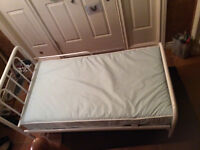 CRIB MATTRESS WITH TODDLER BED FRAME 50$