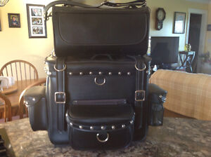 Leather Motorcycle luggage for sale