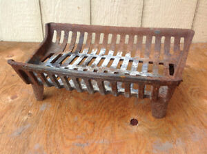 Cast Iron Fireplace Grate - 18-in x 12-in