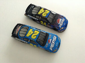 FOR SALE:  Two (2)  Jeff Gordon - #24  -  PEPSI  DIECAST  CARS