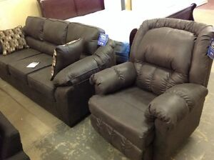Brand new sofa in grey Laramie fabric..Serta Upholstery.taxes in