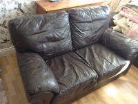 Free 2 seater brown sofa