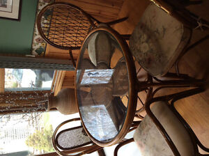 Rattan kitchen table and chairs