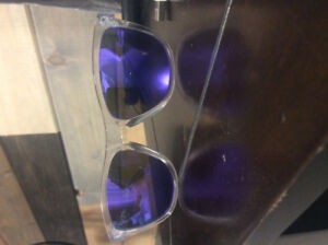 Oakley Frogskins, Violet, with bag and box.
