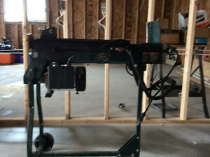 Chain saw and wood splitter with stand