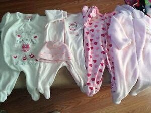 baby girls clothing 0 to 6 months lot
