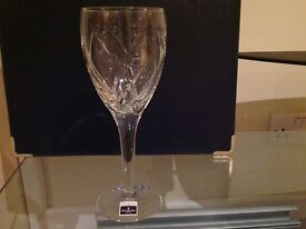 Waterford crystal glasses in presentation case.