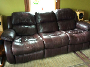 Recliner couch and chair