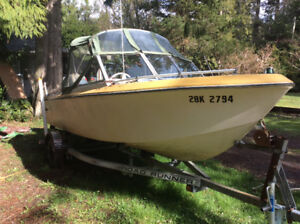 17 ' Calglass with 50 hp Yamaha 4 stroke ( has problems )
