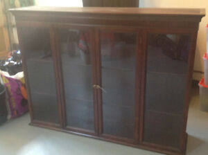Sold Mahogany Display Cabinet with Glass Doors