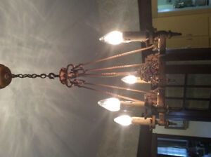 Antique Chandelier and Wall Sconces