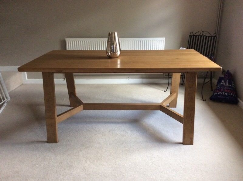 New next kendall hartford dining trestle table in for Next dining table