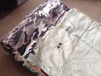 Eurohike Army sleeping bag and matress