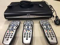 Sky + HD and 4 Remotes