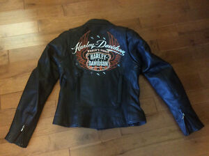 Ladies leather Harley Jacket