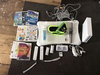 White WII with fit and games