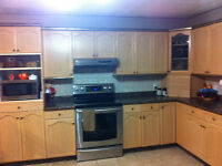 Selling kitchen cabinets, countertop,oven fan and sink for $3000