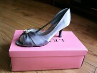 Lexus Satin Evening/Wedding Shoes Dark Grey