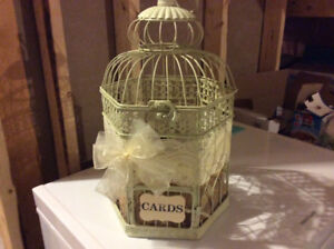 Bird cage for wedding cards