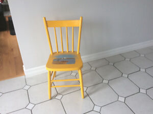 Painted Decorative Wooden Chair