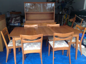 Hardwood Dining Room Set - Mid Century Modern - Made by Krug