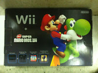 Nintendo Wii System with Game Super Mario Bros Wii (Brand New)