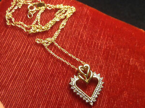 Gold Heart and Chain 14k