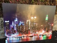 Canvas picture New York at Night